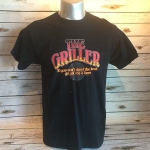 The Griller BBQ Tshirt Get me a Beer Black Size L